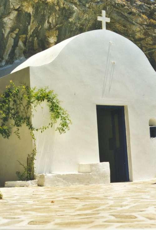 Santurin Greece Religion Chapel Church Cross