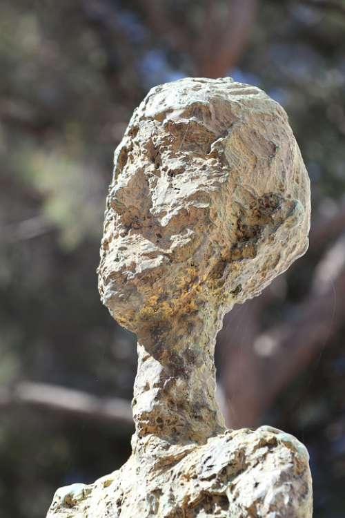 Sculpture Bronze Walking Man Art Museum