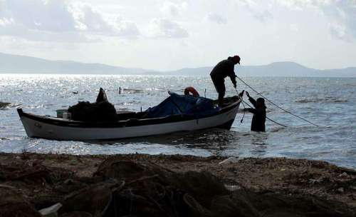 Sea Boat Fisherman Ocean Sky Fishing