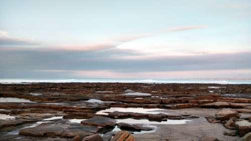 Sea Blue Rocks Cloud Horizon Landscape Sky Ocean