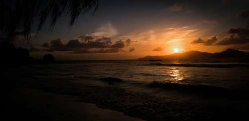 Seychelles Sea Ocean The Indian Ocean Sunset Sun