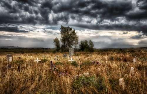 Shoshone Tribal Cemetery Wyoming America Graveyard