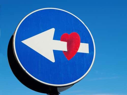Sign Hearth Arrow Signboard Street Roadsign