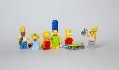 Simpsons Lego Family Bart Homer Lisa Marge