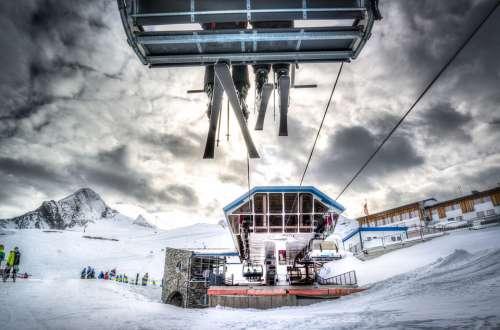 Ski Lift Skiing Snow Winter Mountains
