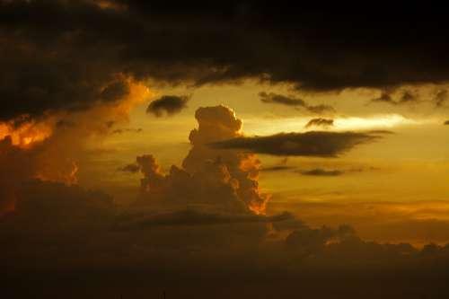 Sky Clouds Nature Twilight Atmosphere Sun Time