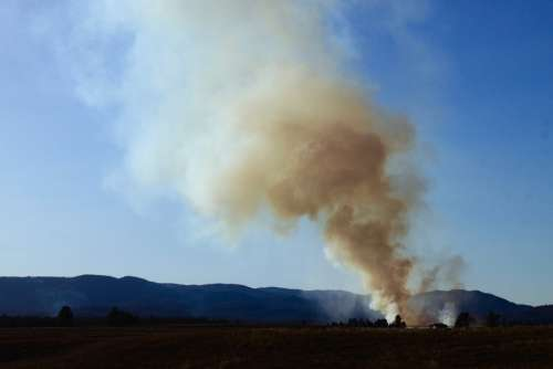 Smoke Sky Sunset Forest Fire