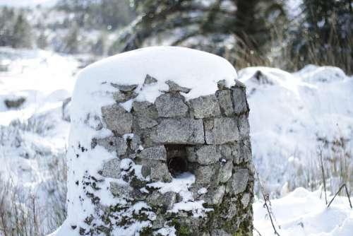 Snow Winter Stone Ancient Ireland