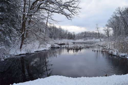 Snow Winter Cold Nature Landscape Outdoors Water