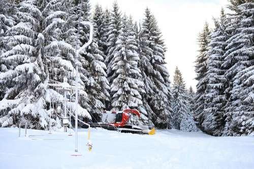 Snowcat Winter Ski Snow Mountain Skilift