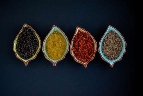 Spices Indian Spices Pepper Turmeric Curry