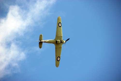 Spitfire Plane Ww2 Aircraft Airplane War Fighter