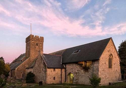 St Illytds Church Llantwit Major Golden Hour Dusk
