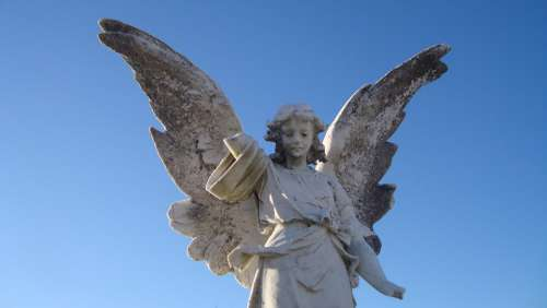 Statue Angel Sculpture Gravestone