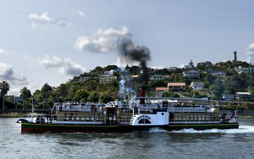 Steam Powered Paddle River Boat