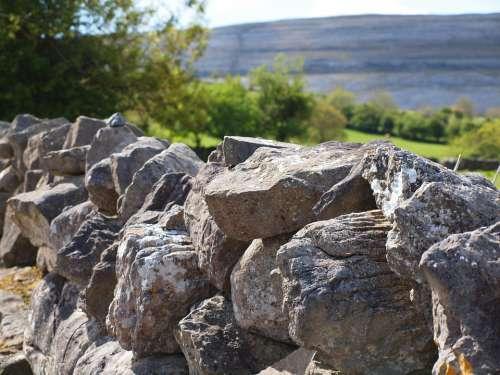 Stone Rock Ireland Landscape