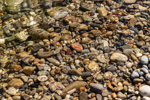 Stones Bach Water Nature Bank Edge Transition