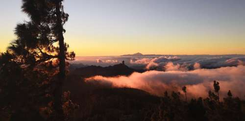 Sunset Canary Islands Tenerife Sky Vacations Spain