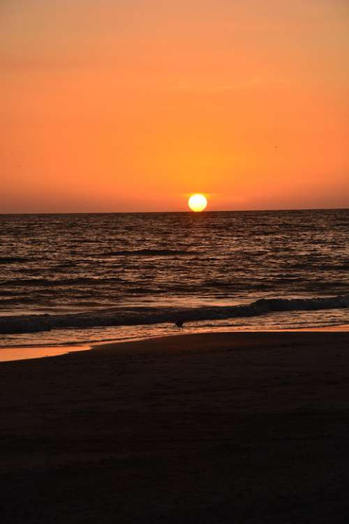 Sunset Beach Florida Horizon Seascape