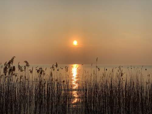Sunset Lake Garda Nature Bella Twilight Calm