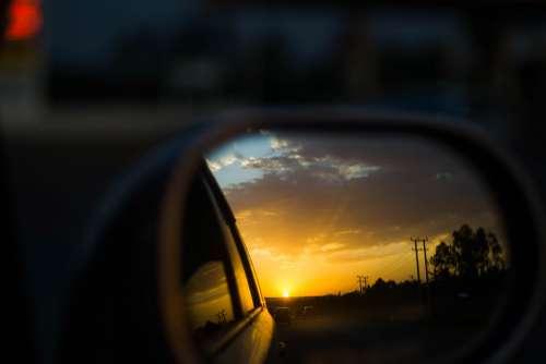 Sunset Sunrise Driving Kenya Africa Kisumu