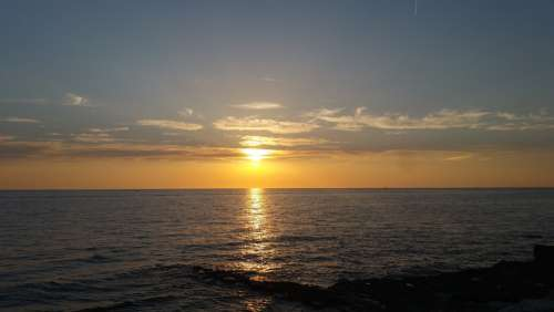 Sunset Summer Sea Holiday Water