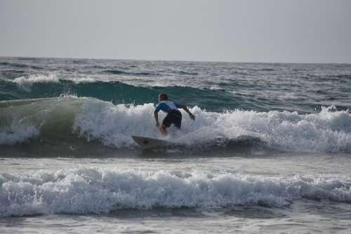 Surf Water Sport Sea Wave Ocean Surfer Beach
