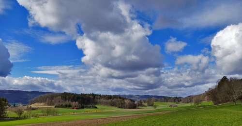Switzerland Nature Landscape Valley Farm Reported