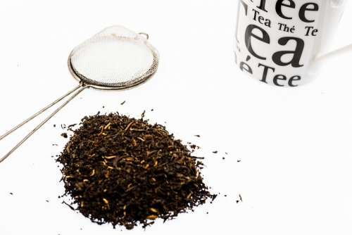 Tea Broken Cup Sieve Black Leaves Loose Dried