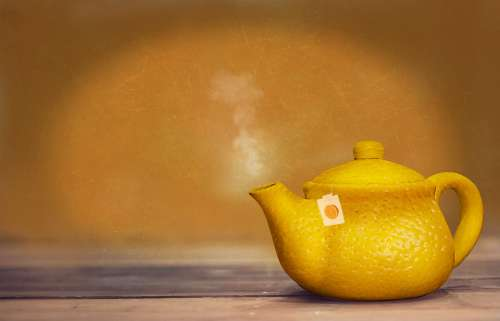 Tee Teapot Hot Hot Drink Lemon Steam Casting