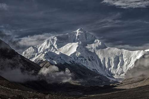Tibet Mount Everest Tschomolangma North Side China