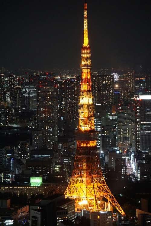 Tokyo Toyko Tower Japan At Night Tokyo At Night