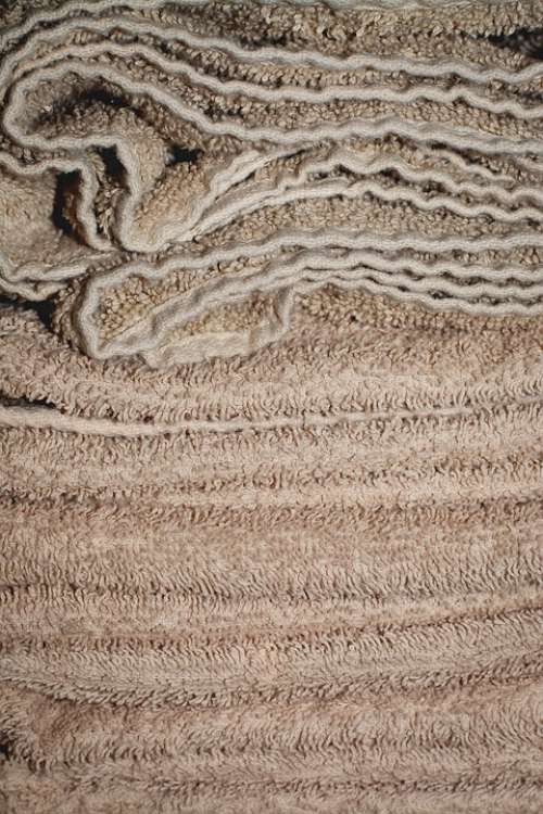 Towels Terry Beige Fabric Material