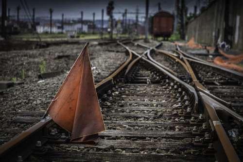 Train Track Rails Transport Travel Metal Gravel
