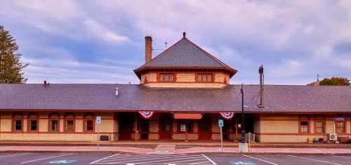 Train Station Panorama Laconia New Hampshire