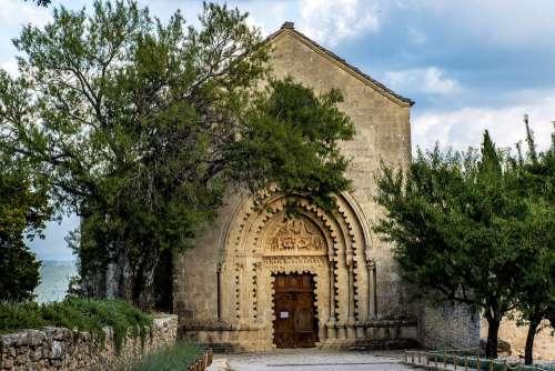 Trees Eglise Church Provence France Europe
