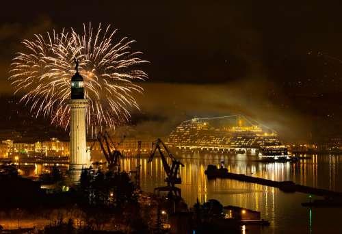 Trieste Baptism Coast Venice Fireworks