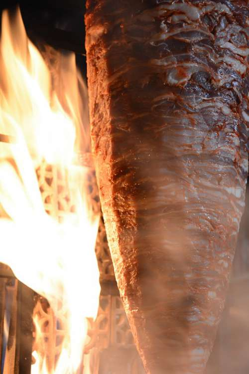 Trompo Meat Flame Fire