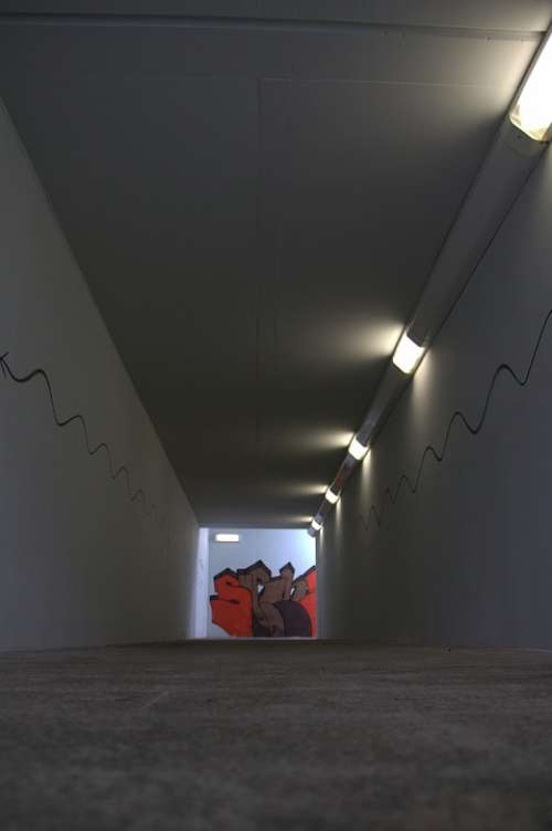 Tunnel Underpass Railway Station Away Passage Dark