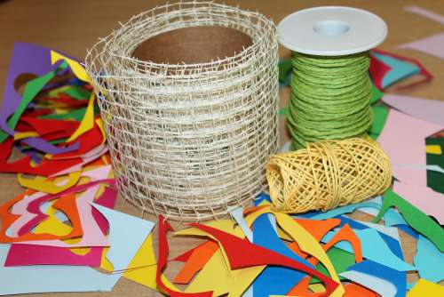 Twine Tangle Rolled Up Creative Play Shredded Paper