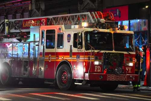 Usa Fire Department Truck Danger Service