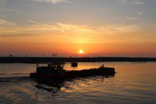 Ustka West Sun Baltic Sea Sea