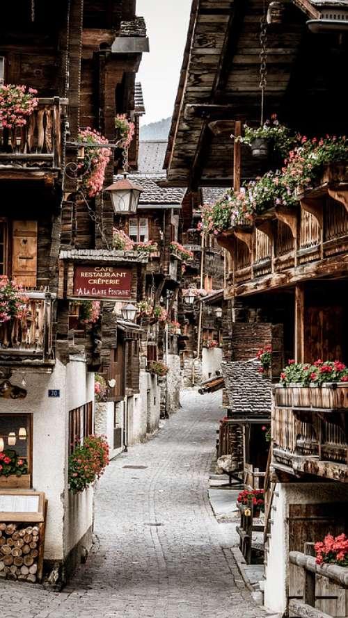 Valais Grimentz Switzerland Bergdorf Chalet