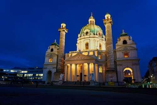 Vienna St Charles'S Church Austria Facade Capital