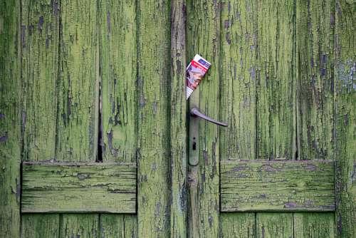 Vintage Door Newspaper Rustic Old Vintage Door