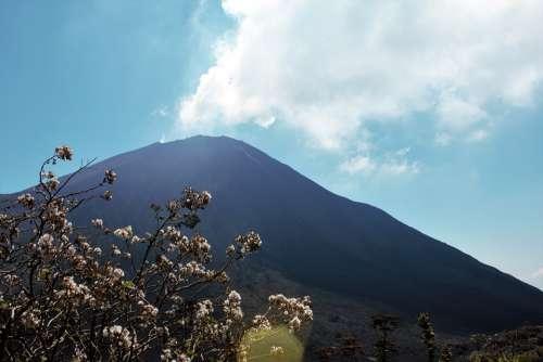 Volcano Sun Gas Peak Mountain Volcano Ash Ash