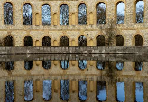 Water Reflection Ruin Building Potsdam