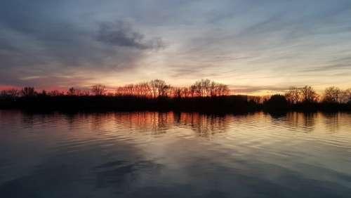 Water Sky River Nature Landscape Mood Wood Calm