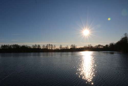 Water Lake Reflection Sunrise Rest Waters