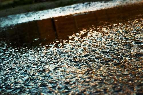 Water Street City Rain Tap Texture Road Wet